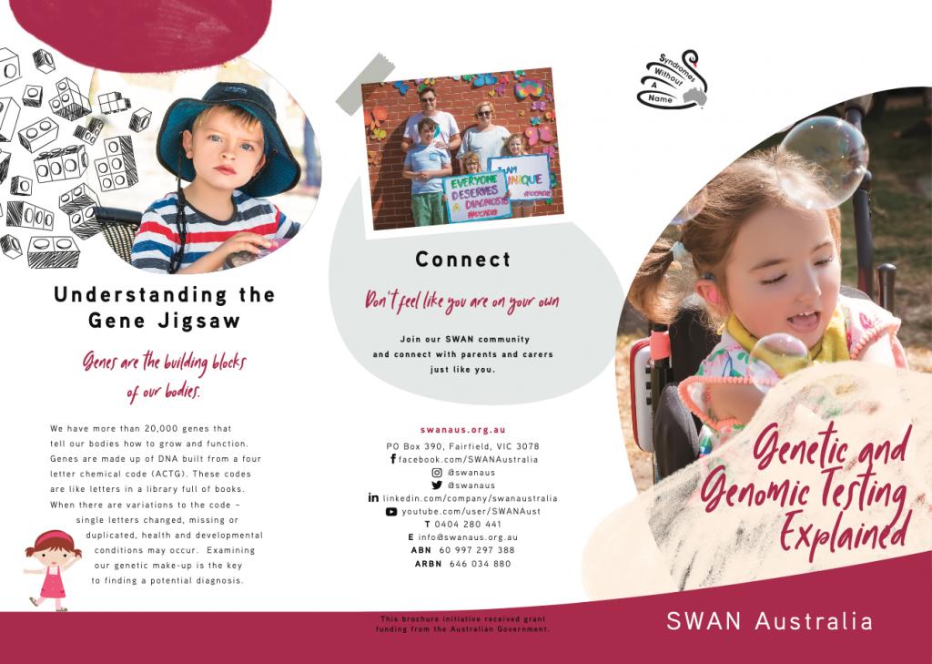 SWAN Aus genetic and genomic testing explained screenshot brochure