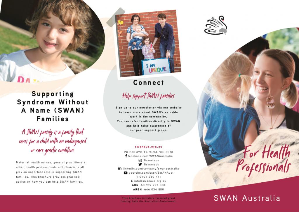 SWAN Aus SWAN health professionals brochure screenshot