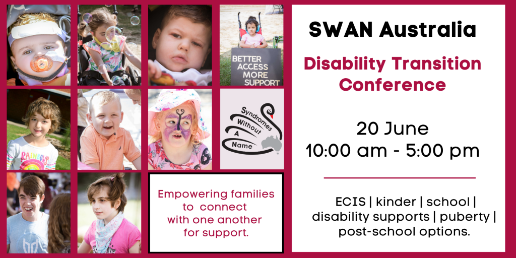 SWAN Australia disability transition conference title page