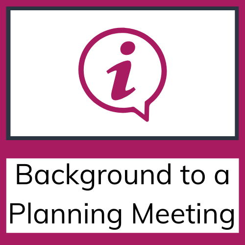 NDIS background to a planning meeting