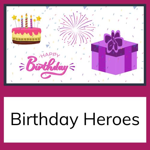 birthday heroes tile